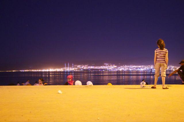 Rotes Meer mit Blick auf Eilat, Israel