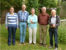 SVS Vorstandsdelegation (von links nach rechts): Kathrin Zybach (Kassierin) – Ursus Waldmeier (Prä- sident) – Dagmar Bujack (Vizepräsidentin) – Luzi Jordi (ehem. Pfarrer in Beirut) – Martin Ninck (Aktuar)